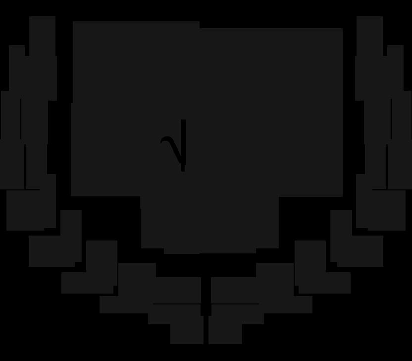 Uma coroa de louros com duas luvas de boxe